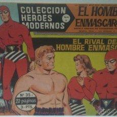 Tebeos: COMIC DEL HOMBRE ENMASCARADO Nº35. COLECCION HEROES MODERNOS. EL RIVAL DEL HOMBRE ENMASCARADO. Lote 47810090