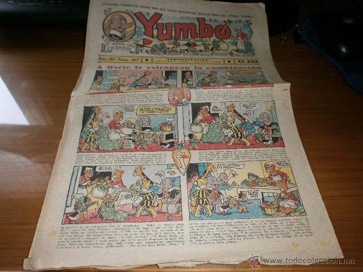 YUMBO AÑO III Nº 77 - EDT. HISPANO AMERICANA - 29 DE ABRIL DE 1936 - ORIGINAL. (Tebeos y Comics - Hispano Americana - Yumbo)