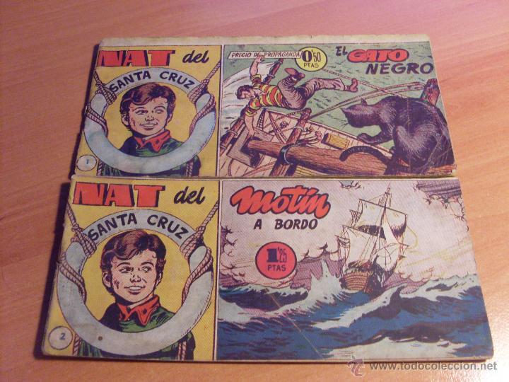 Tebeos: NAT DE SANTA CRUZ EL GRUMETE . COMPLETA 1 AL 57. (ORIGINAL HISPANO AMERICANA) (COIB69) - Foto 3 - 48668813