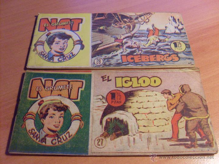 Tebeos: NAT DE SANTA CRUZ EL GRUMETE . COMPLETA 1 AL 57. (ORIGINAL HISPANO AMERICANA) (COIB69) - Foto 16 - 48668813