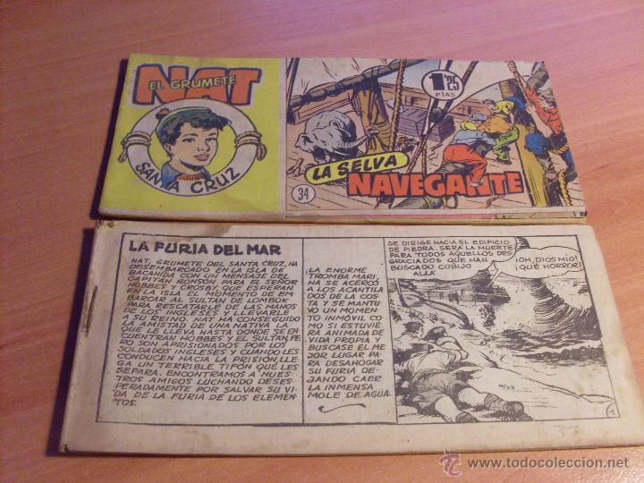 Tebeos: NAT DE SANTA CRUZ EL GRUMETE . COMPLETA 1 AL 57. (ORIGINAL HISPANO AMERICANA) (COIB69) - Foto 19 - 48668813