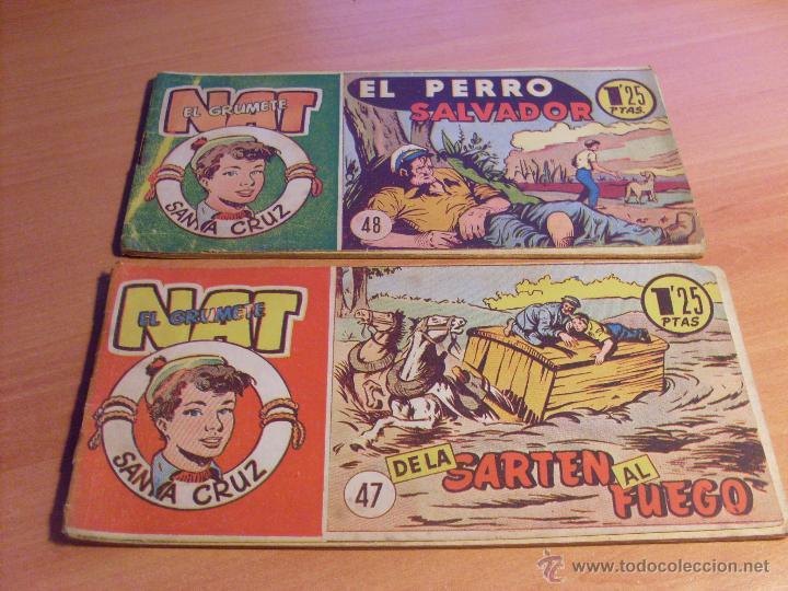 Tebeos: NAT DE SANTA CRUZ EL GRUMETE . COMPLETA 1 AL 57. (ORIGINAL HISPANO AMERICANA) (COIB69) - Foto 26 - 48668813