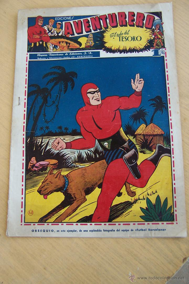 HISPANO AMERICANA EL AVENTURERO 2ª ÉPOCA Nº 1 Y LAMINA-2-4-12-20-21-22-25-26-27 (Tebeos y Comics - Hispano Americana - Aventurero)