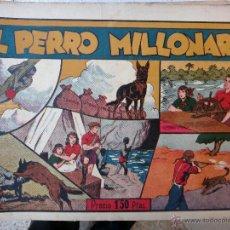 Tebeos: AVENTURAS DE JUAN Y LUIS , EL PERRO MILLONARIO , HISPANO AMERICANA , ORIGINAL , H. Lote 48964004