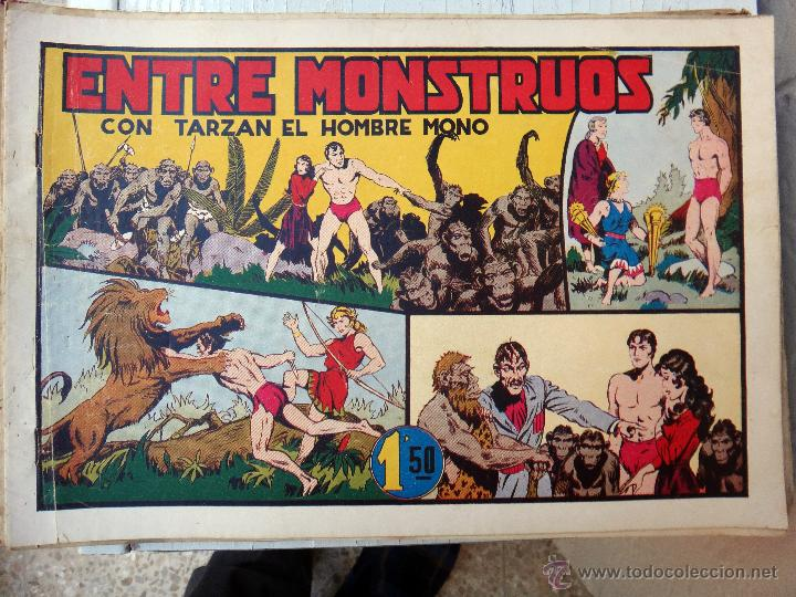 TARZAN EL HOMBRE MONO , ENTRE MONSTRUOS , HISPANO AMERICANA , ORIGINAL , H (Tebeos y Comics - Hispano Americana - Tarzán)