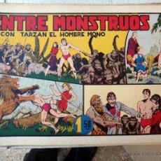 Tebeos: TARZAN EL HOMBRE MONO , ENTRE MONSTRUOS , HISPANO AMERICANA , ORIGINAL , H. Lote 48964646