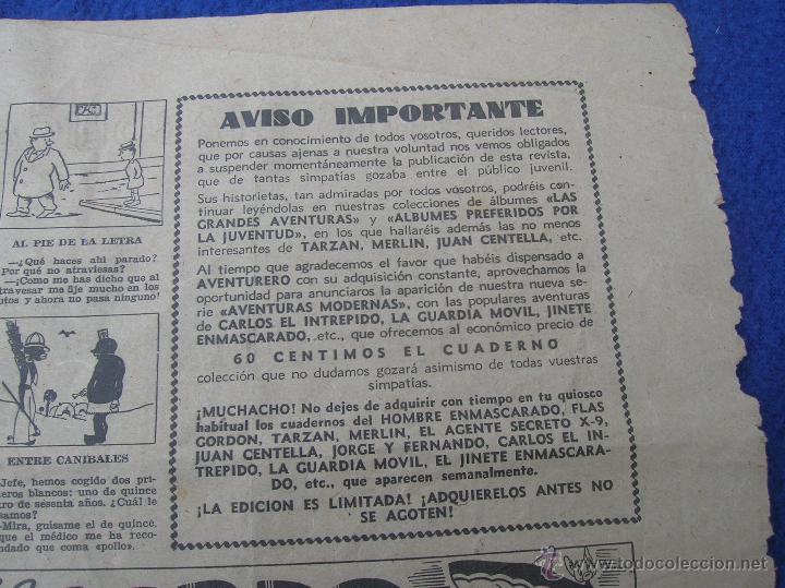 Tebeos: AVENTURERO SEGUNDA SERIE EL 31 EL ULTIMO IMPOSIBLE DE VER ESTADO GENERAL BUENO - Foto 3 - 49060297