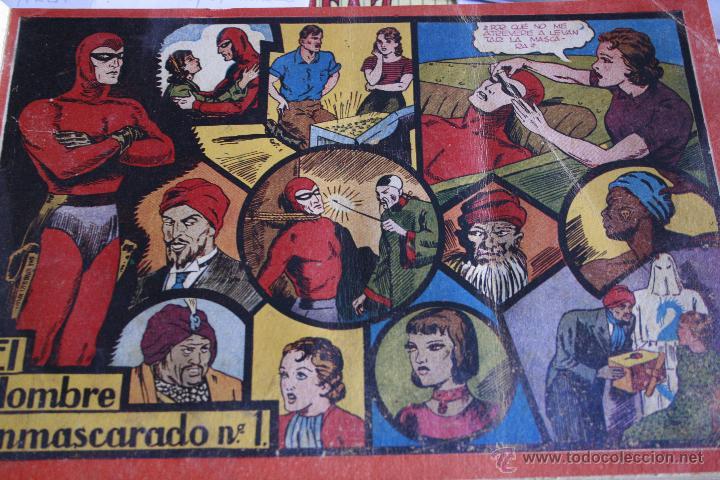 EL HOMBRE ENMASCARADO 1943 DEL Nº 1 AL 7 ENCUADERNADOS HISPANO AMERICANA (Tebeos y Comics - Hispano Americana - Hombre Enmascarado)