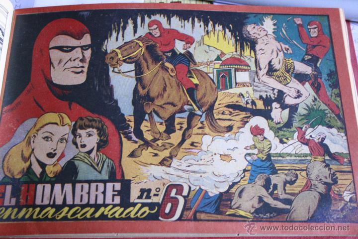 Tebeos: EL HOMBRE ENMASCARADO 1943 DEL Nº 1 AL 7 ENCUADERNADOS HISPANO AMERICANA - Foto 2 - 49197149