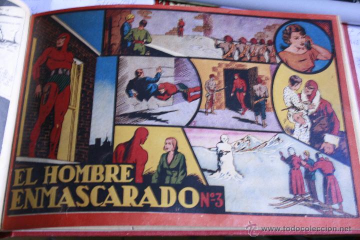 Tebeos: EL HOMBRE ENMASCARADO 1943 DEL Nº 1 AL 7 ENCUADERNADOS HISPANO AMERICANA - Foto 3 - 49197149