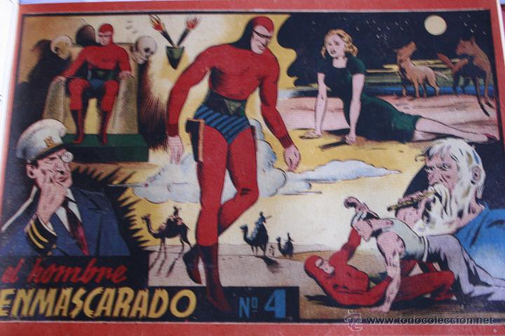 Tebeos: EL HOMBRE ENMASCARADO 1943 DEL Nº 1 AL 7 ENCUADERNADOS HISPANO AMERICANA - Foto 5 - 49197149