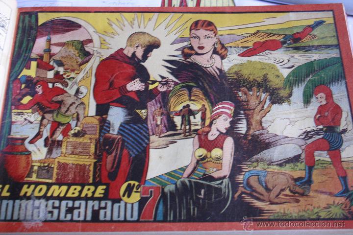 Tebeos: EL HOMBRE ENMASCARADO 1943 DEL Nº 1 AL 7 ENCUADERNADOS HISPANO AMERICANA - Foto 6 - 49197149