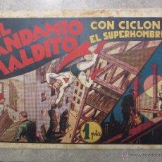 Tebeos: EL ANDAMIO MALDITO , CON CICLON EL SUPERHOMBRE , NUMERO 12, HISPANO AMERICANA 1940. Lote 49338340