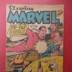 Tebeos: EL CAPITÁN MARVEL. PIF PAF Nº 729. AÑO 1953. EDITORIAL TOR. FOLIA (ORIGINAL). Lote 49418414