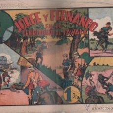 Tebeos: JORGE Y FERNANDO EN EL TERRITORIO DE TAWAKA. EDITORIAL HISPANO AMERICANA. Lote 49651291