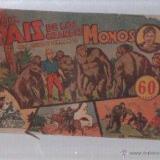 Tebeos: EN EL PAIS DE LOS GRANDES MONOS CON JORGE Y FERNANDO. EDICION HISPANO AMERICANA.. Lote 49766456