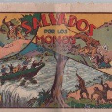 Tebeos: SALVADOS POR LOS MONOS. UNA AVENTURA DE JORGE Y FERNANDO. EDICIONES HISPANO AMERICANA.. Lote 49766591