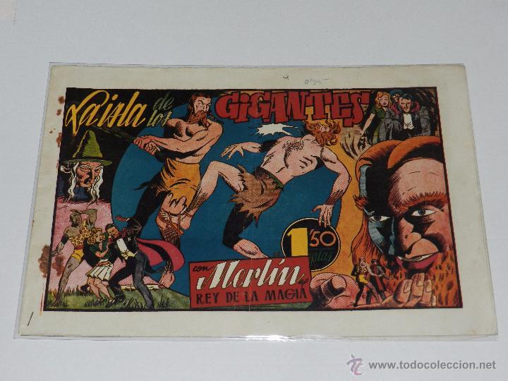 (M-1) MERLIN REY DE LA MAGIA NUM 17 LA ISLA DE LOS GIGANTES, EDT HISPANO AMERICANA (Tebeos y Comics - Hispano Americana - Merlín)