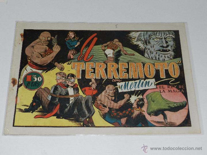 (M-1) MERLIN REY DE LA MAGIA NUM 26 EL TERREMOTO , EDT HISPANO AMERICANA, SEÑALES DE USO (Tebeos y Comics - Hispano Americana - Merlín)