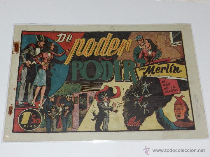 (M-1) MERLIN REY DE LA MAGIA NUM 28 DE PODER A PODER, EDT HISPANO AMERICANA, SEÑALES DE USO (Tebeos y Comics - Hispano Americana - Merlín)