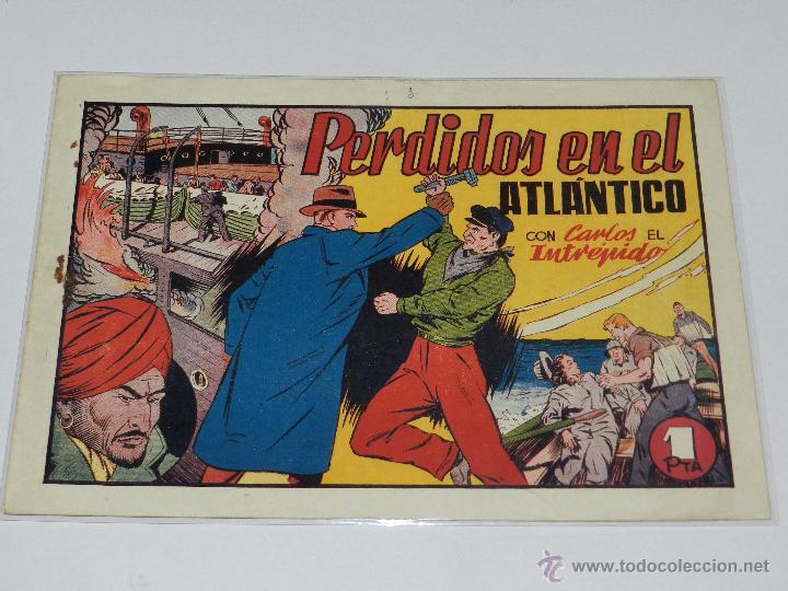 (M-1) CARLOS EL INTREPIDO NUM 19 PERDIDOS EN EL ATLANTICO , EDT HISPANO AMERICANA (Tebeos y Comics - Hispano Americana - Carlos el Intrépido)