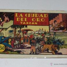 Tebeos: (M-1) TRAZAN REY DE LA SELVA NUM 6 LA CIUDAD DEL ORO, EDT HISPANO AMERICANA, SEÑALES DE USO. Lote 49940479