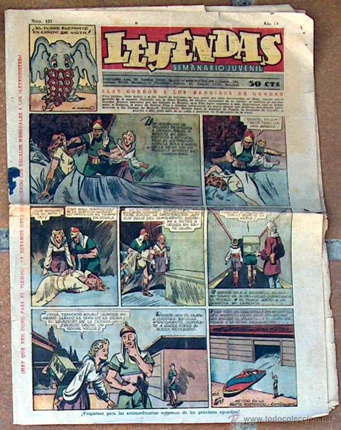 LEYENDAS Nº 157 SEMANARIO JUVENIL (Tebeos y Comics - Hispano Americana - Leyendas Infantiles)