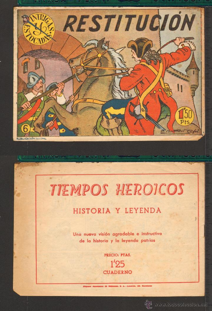 Tebeos: TEBEOS-COMICS CANDY - INTRIGAS Y ESTOCADAS - HISPANOAMERICANA - 1957 - Nº 6 - DIFICIL *BB99 - Foto 2 - 50452020
