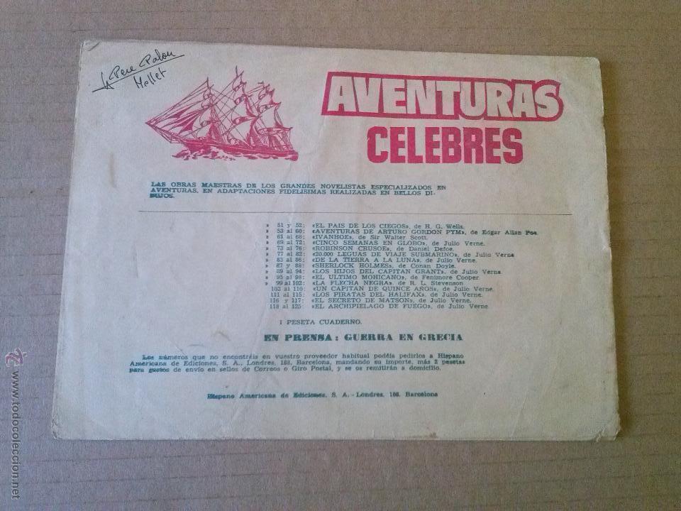 Tebeos: aventuras celebres - nº 118 - 1ª- archipielago de fuego -hispano americana -t - Foto 2 - 50922895