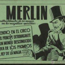 Tebeos: MERLÍN TOMO 1. TAPAS VERDES. 80 PGS. (HISPANO AMERICANA, 1943) EN PERFECTO ESTADO.. Lote 51053849