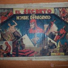 Livros de Banda Desenhada: EL HOMBRE ENMASCARADO Nº 5 EL SECRETO EDITORIAL HISPANO AMERICANA 1941 ORIGINAL . Lote 51406905