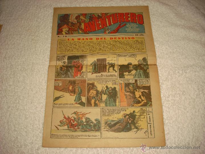 AVENTURERO N. 78, 15 CTS. HISPANO AMERICANA (Tebeos y Comics - Hispano Americana - Aventurero)