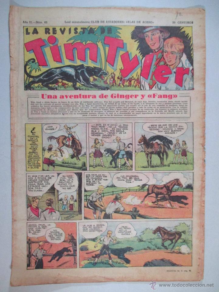 LA REVISTA DE TIM TYLER , AÑO II , Nº 63 , HISPANO AMERICANA , 1937 (Tebeos y Comics - Hispano Americana - Tim Tyler)
