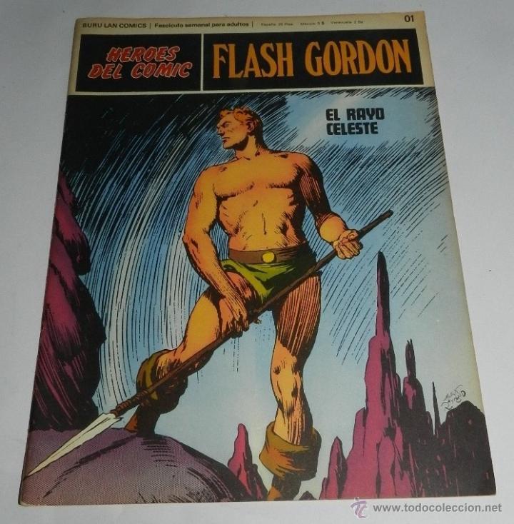 FLASH GORDON, POR ALEX RAYMOND - BURU LAN, N. 1, EXCELENTE ESTADO DE CONSERVACION. (Tebeos y Comics - Hispano Americana - Flash Gordon)