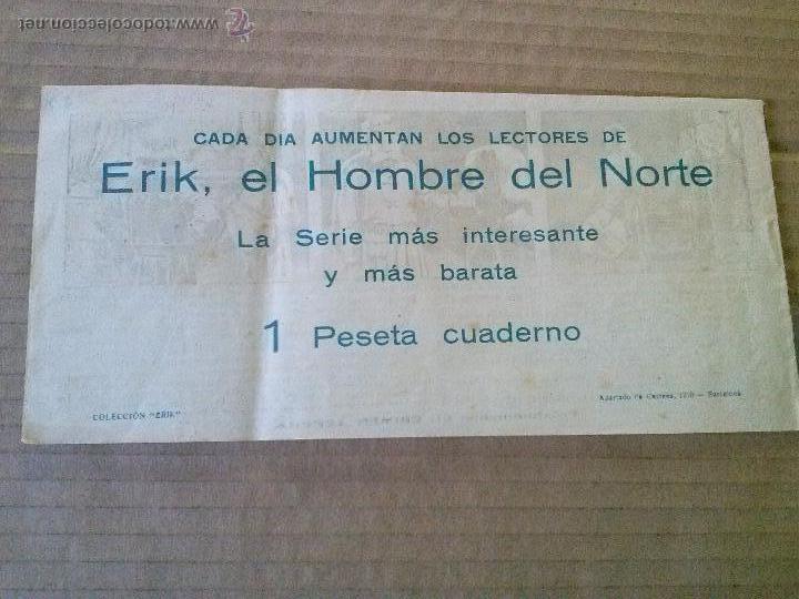 Tebeos: erik el hombre del norte nº 20 - hispano americana , ta - Foto 2 - 52987490