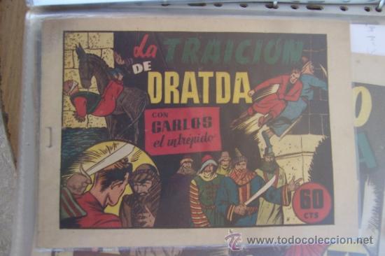 HISPANO AMERICANA, CARLOS EL INTRÉPIDO, 3ª ÉPOCA, Nº 1-2 3 -4-5-8-9 SON Nº 28 AL 32 MAS 35-36 LA C. (Tebeos y Comics - Hispano Americana - Otros)
