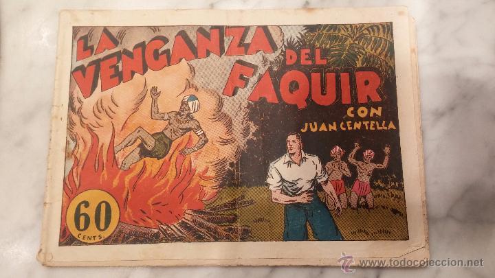 COMIC , JUAN CENTELLA , LA VENGANZA DEL FAQUIR . (Tebeos y Comics - Hispano Americana - Juan Centella)