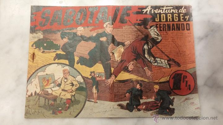 COMIC , JORGE Y FERNANDO , HISPANO AMERICANA . (Tebeos y Comics - Hispano Americana - Juan Centella)