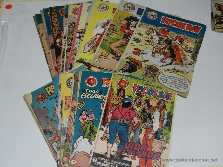 (M3) PECOS BILL - LOTE DE49 NUMEROS DEL NUM 1 AL NUM 51 ,FALTAN LOS NUMEROS 4 Y 34,HISPANO AMERICANA (Tebeos y Comics - Hispano Americana - Otros)
