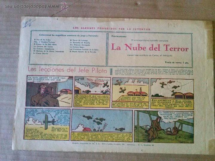 Tebeos: jorge y fernando nº 30 - hispano americana - ta - Foto 2 - 54355094