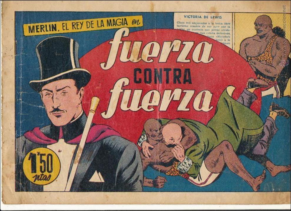 MERLIN Nº 13. FUERZA CONTRA FUERZA. HISPANO AMERICANA 1942. (Tebeos y Comics - Hispano Americana - Merlín)