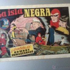 Tebeos: HOMBRE ENMASCARADO LA ISLA NEGRA HISPANO AMERICANA ORIGINAL. Lote 54673494
