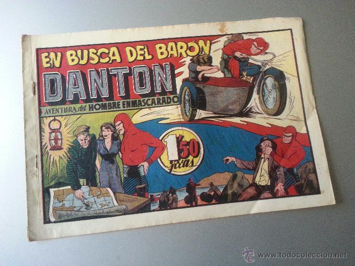 HOMBRE ENMASCARADO EN BUSCA DEL BARON DANTON HISPANO AMERICANA ORIGINAL (Tebeos y Comics - Hispano Americana - Hombre Enmascarado)
