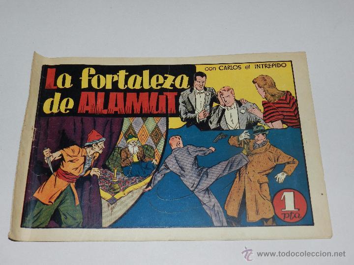 (M1) CARLOS EL INTREPIDO NUM 18 - LA FORTALEZA DE ALAMUNT , HISPANO AMERICANA 1942, SEÑALES DE USO (Tebeos y Comics - Hispano Americana - Carlos el Intrépido)