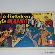 Tebeos: (M1) CARLOS EL INTREPIDO NUM 18 - LA FORTALEZA DE ALAMUNT , HISPANO AMERICANA 1942, SEÑALES DE USO . Lote 54676488