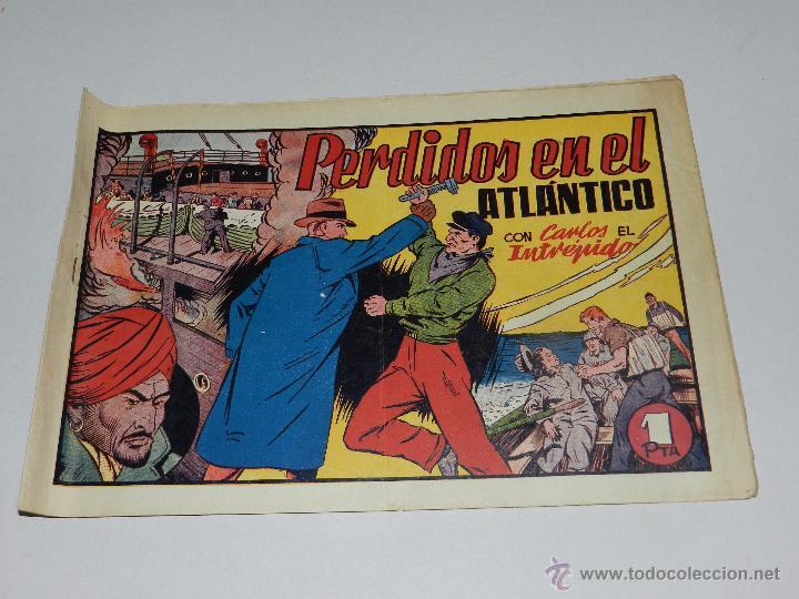 (M1) CARLOS EL INTREPIDO NUM 19 - PERDIDOS EN EL ATLANTICO ,HISPANO AMERICANA 1942, SEÑALES DE USO (Tebeos y Comics - Hispano Americana - Carlos el Intrépido)