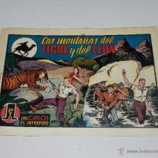Tebeos: (M1) CARLOS EL INTREPIDO NUM 20 - LAS MONTAÑAS DEL TIGRE , HISPANO AMERICANA 1942, SEÑALES DE USO . Lote 54676550