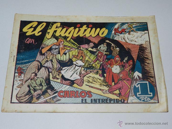 (M1) CARLOS EL INTREPIDO NUM 22 - EL FUGITIVO , HISPANO AMERICANA 1942, SEÑALES DE USO (Tebeos y Comics - Hispano Americana - Carlos el Intrépido)