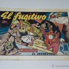 Tebeos: (M1) CARLOS EL INTREPIDO NUM 22 - EL FUGITIVO , HISPANO AMERICANA 1942, SEÑALES DE USO . Lote 54676605
