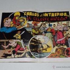 Tebeos: (M1) CARLOS EL INTREPIDO EXTRA 9 EL CELESTE IMPERIO , HISPANO AMERICANA 1942, SEÑALES DE USO . Lote 54676887